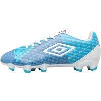 Umbro Junior Velocita II Premier HG Football Boots Blue/White/Purple Cactus