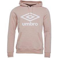 Umbro Mens Active Style Large Logo Hoodie Desert Pink/White