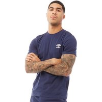 Umbro Mens Active Style Small Logo T-Shirt Medieval Blue/White
