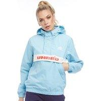 Umbro Womens Rain Jacket Sky Blue/White/Red