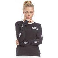 Umbro Womens Diamond Sleeve T-Shirt Black