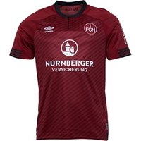 Umbro Mens 1 FCN FC Nurnberg Home Shirt Burgundy/Black