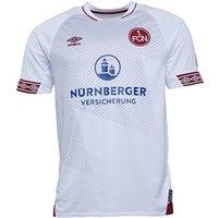 Umbro Mens 1 FCN FC Nurnberg Away Shirt White/Burgundy