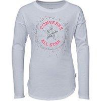 Converse Junior Girls Sequin Chuck Patch T-Shirt White