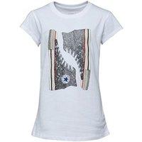 Converse Junior Girls Glitter Chucks T-Shirt White