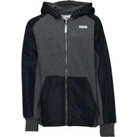 Converse Junior Boys Knitted Woven Zip Through Hoody Charcoal Grey Heather