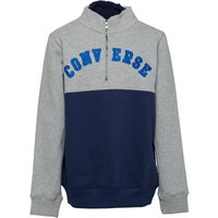 Converse Boys Colourblock Sweatshirt Dark Grey Heather