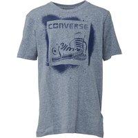 Converse Junior Boys Stencil T-Shirt Dress Blue Snow