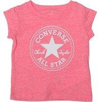 Converse Baby Girls Chuck Patch T-Shirt Neo Pink