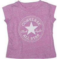 Converse Baby Girls Chuck Patch T-Shirt Fuchsia Glow Snow Heather