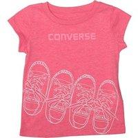 Converse Baby Girls Converse Kicks T-Shirt Neo Pink