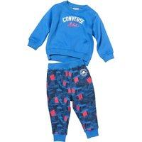 Converse Baby Boys Fleece Crew & Printed Pants Obsidian