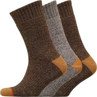 WEATHERPROOF Mens Three Pack Thermal Crew Socks Medium Brown