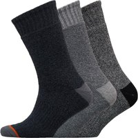 WEATHERPROOF Mens Three Pack Thermal Crew Socks Grey/Black