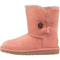UGG Junior Girls Bailey Button Boots Chemise Pink