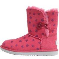 UGG Junior Girls Bailey Button II Stars Classic Boots Brambleberry