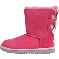 UGG Junior Girls Bailey Bow II Classic Boots Pink Azalea/Icelandic Blue