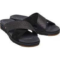 UGG Womens Kari Glitter Slide Sandals Black
