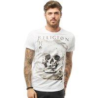 Religion Mens Skull Card T-Shirt White