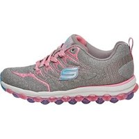 SKECHERS Girls Air Ultra Double Dance Trainers Grey/Pink