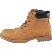 Mad Wax Mens Cleat Sole Boots Camel
