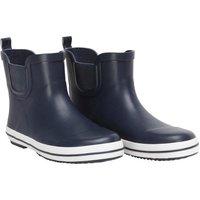 Mad Wax Junior Boys Short Wellington Boots Navy/White