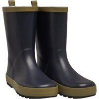 Mad Wax Junior Boys Wellington Boots Navy/Khaki