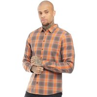 Blend Mens Long Sleeve Shirt Rust Orange