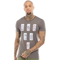 Blend Mens Graphic T-Shirt Pewter Mix