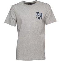 Zoo York Mens Ball Game Back Print T-Shirt Anthracite Grey Marl