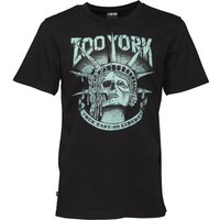 Zoo York Mens Death Of Liberty Graphic T-Shirt Anthracite