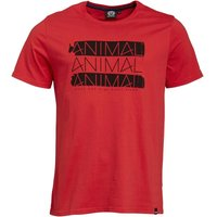 Animal Mens Graphic T-Shirt Red