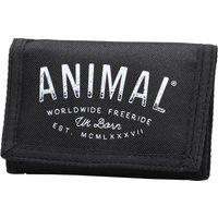 Animal Mens Ambush Polyester 3 Leaf Wallet Black
