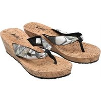 Animal Womens Susie Cork Wedges Leaf Green