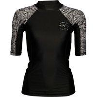 Animal Womens Nessea Short Sleeve Rash Vest Black