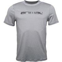 Animal Mens Latero Uv Protection T-shirt Grey Marl