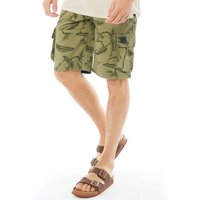 Animal Mens Agouras Too Walk Shorts Lizard Green
