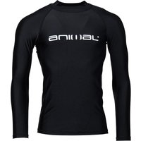 Animal Mens Laret Long Sleeve Rash Vest Black