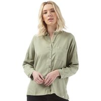 Superdry Womens Tencel Delta Shirt Salt Wash Khaki
