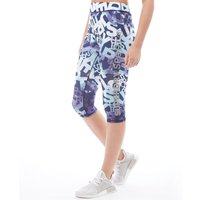 Superdry Sport Womens Core Gym Capri Pants Blue Mountain Logo