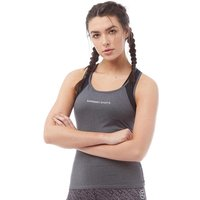 Superdry Sport Womens Sprinter Mesh Panel Vest Gritty Anthracite