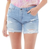 Superdry Womens Steph Boyfriend Jean Shorts Authentic Light Wash