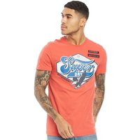 Superdry Mens Custom 1334 T-Shirt Biker Red