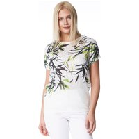 Tropical Leaf Print Jersey Top