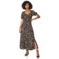 Ditsy Floral Ruched Midi dress