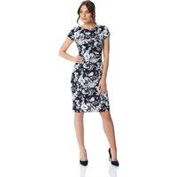 Floral Print Side Ruched Dress