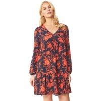 Floral Print Tiered Smock Dress