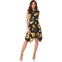 Floral Spot Hanky Hem Dress