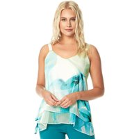 Abstract Leaf Lurex Camisole Top