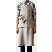 Natural Washed Linen Chef Apron